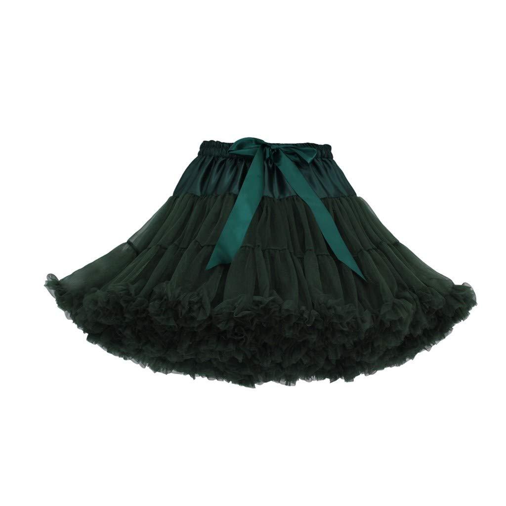 Spring Sale Girls Cute Tutu Skirts Fashion Solid Color Dance Party Short Dresses Mesh Super Ballet Skirt