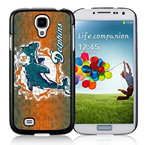 Miami Dolphins 14_Samsung Galaxy S4 I9500 Black Phone Case Cover_26262