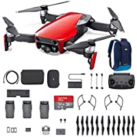 DJI Mavic Air Fly More Combo, Flame Red Portable Quadcopter Drone with 32G SD Card and More