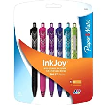 Paper Mate InkJoy 300 RT Fashion Wraps Retractable Medium Point Advanced Ink Pens, 6 Colored Ink Pens (1862403) by Papermate