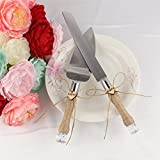 2Pcs Wedding Cake Knife and Server Set Stainless Steel Cake Bread Pie Knife Server Flatware Set for Wedding Party