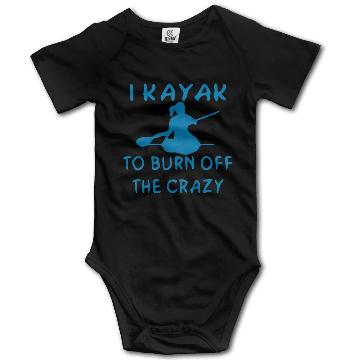 Cute I Kayak to Burn Off The Crazy Playsuit Short Sleeve Cotton Bodysuit for Unisex Baby