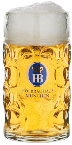 Beer Munich Germany (Hofbrauhaus Munich Munchen German Glass Dimple Beer Mug 1 L Germany Oktoberfest)