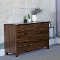 Y1504 Smart Home Dark Walnut 6 Drawer Dresser