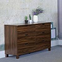Y1504 Smart Home Dark Walnut 6 Drawer Dresser