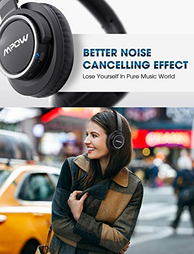 Mpow [Update] Active Noise Cancelling Headphones, 50 Hours Playtime with Hi-Fi Deep Bass, ANC Over Ear Bluetooth Headphones with Mic, Foldable Wireless Headset for Travel Work TV Cell Phone/PC by Mpow (Image #1)