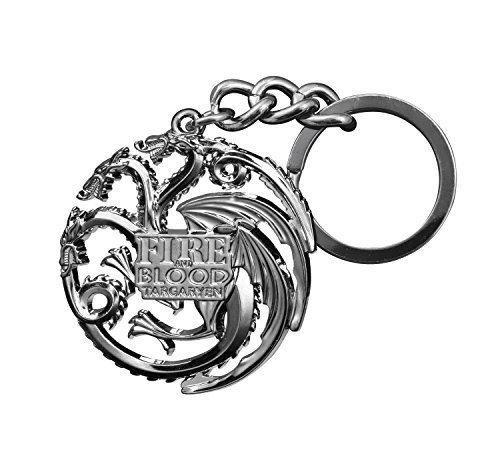 The Noble Collection Game of Thrones Targaryen Dragon Die-Cast Keychain (Gun Metal)
