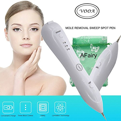 VOOA Dot Mole Removal Pen Mole Remover Pen Mole Eraser Plasma Pen Spot Mole Tattoo Removal Pen for Skin Tag Nevus Freckles Dark Spot Birth Mark Skin Pigmentation Age Spots USB Charging No Bleeding