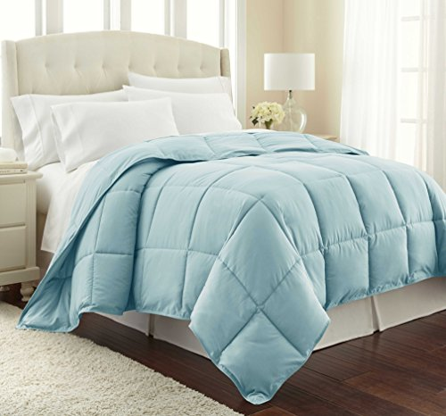 Southshore Fine Linens - Vilano Springs - - Down Alternate Weight Comforter - Sky Blue - FULL / QUEEN