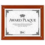 DAX N100WT Plaque-In-An-Instant Kit w/Certs & Mats, Wood/Acrylic, Up to 8 1/2 x 11, Walnut