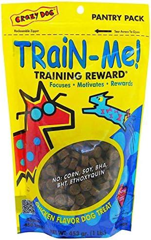Crazy Dog Train-Me Training Reward Dog Treats,Chicken Regular