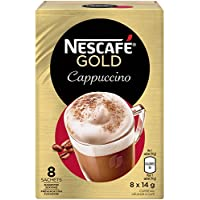 NESCAFÉ Cappuccino, Instant Coffee Sachets, 8x14g (Pack of 6, 48 Cups)