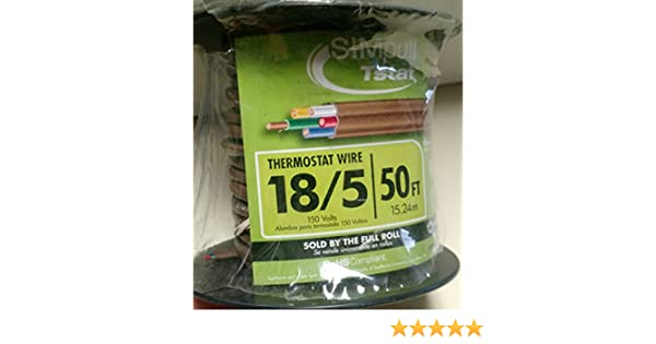 50 ft. 18/5 Thermostat Wire - Brown