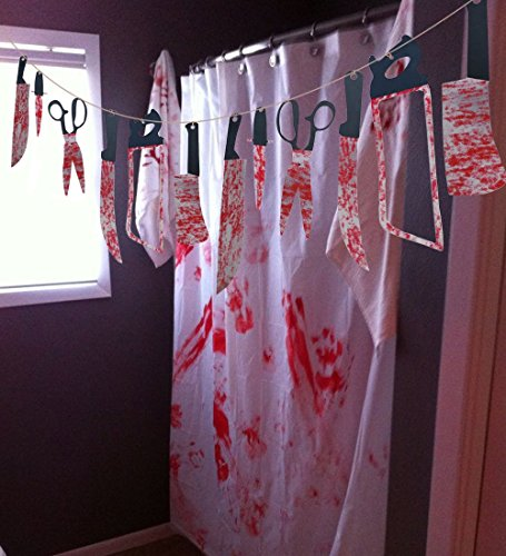 Decoration Door Zombie (24PCS Bloody Weapons Garland Props - Halloween Zombie Vampire Party Decorations)