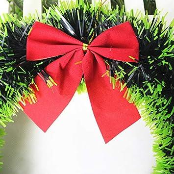 Cdet 1pc Couronne de Porte Noel Pendantif Decoration Accueillant pour Arbre de Noel D/écor Christmas Party Simple Style Arc 35CM Noir Blanc