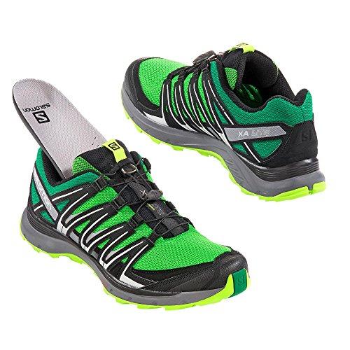 Salomon Xa Lite, Zapatillas de Trail Running para Hombre Verde (Classic Green/Black/Lime Green)