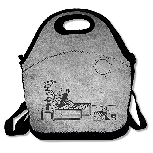 Bakeiy Diary Of A Wimpy Kid Logo Lunch Tote Bag Lunch Box Neoprene Tote For Kids And Adults For Travel And Picnic (Wimpy Adult Costume)