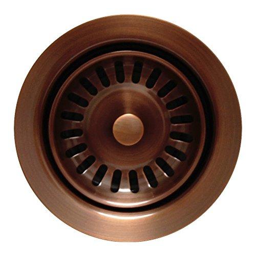 Antique Brass Disposer - Kitchen Sink Extended Disposer Trim/Basket Strainer for Deep Fireclay Sinks