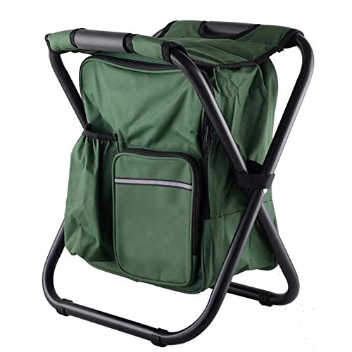 Im Drunk Green T-shirt (W-ShiG Portable Folding Fishing Stool Multi-purpose Backpack Chair Lightweight Outdoor Stool with Cooler Bag for Beach Hiking Fishing Camping Picnic)