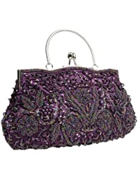 Amazon.com: Purple - Evening Bags / Handbags & Wallets: Clothing ...