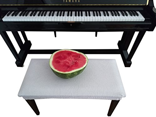 (Qualitrusty Waterproof Piano Bench Cover - Perfect For Pets, Kids, Elderly, Weddings, Parties - Machine Washable, Elastic, Removable - Cleans Easily)