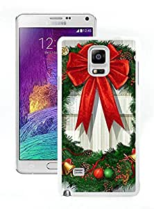 Recommend Design Christmas Wreath White Samsung Galaxy Note 4 Case 2