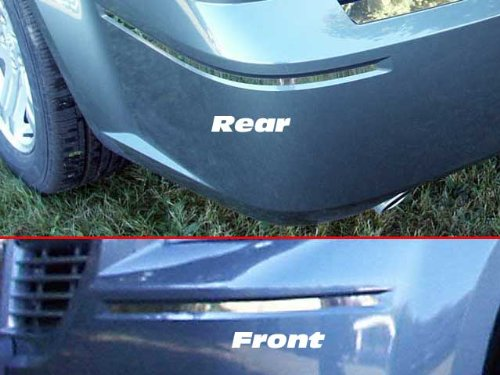QAA FITS 300 2005-2010 CHRYSLER (4 Pc: Stainless Steel Bumper Trim, front and rear - 3/8