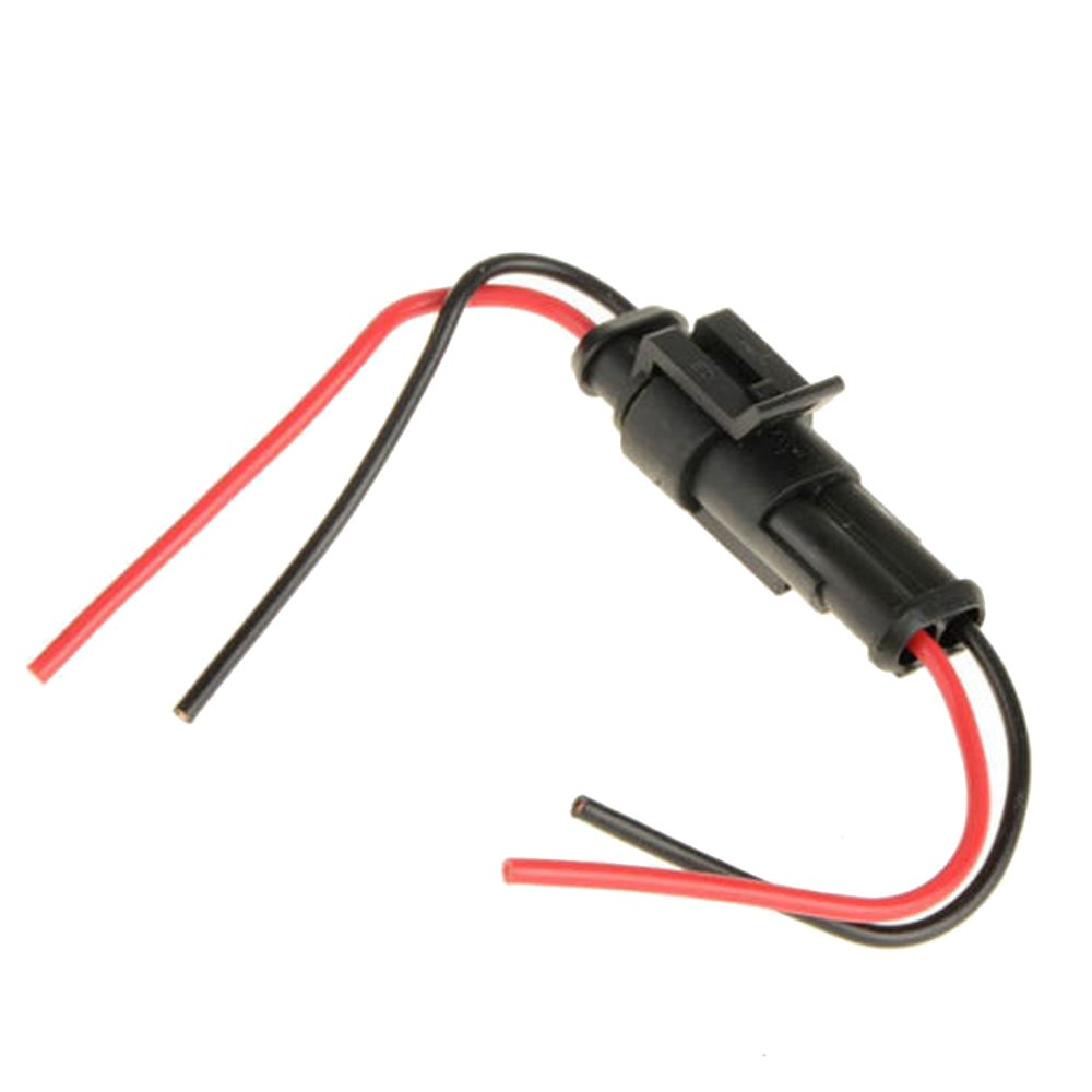 51EL07GCYrL._SL1000_ amazon com e support 2 pin way car auto waterproof electrical marine wiring harness connectors at virtualis.co