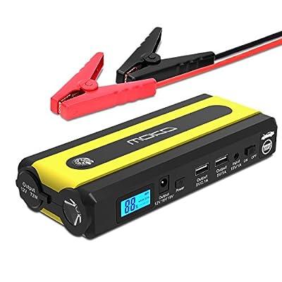 Multi-function Car Jump Starter, MoKo Portable Power Bank External Battery Pack, 500A Peak 13600mAh 12V Auto Emergency Booster Charger + 2 USB Ports, Compass, Cigarette Lighter Socket, LED Flashlight