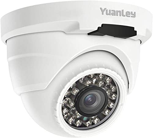 YuanLey PoE Camera 5MP Dome H.265 Outdoor Indoor Video Surveillance Home IP Security, IR Night Vision Motion Detection 1-Way Audio