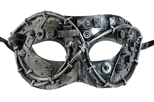 Masada Goods, Metallic Steampunk Half Face Mask