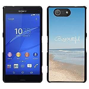 [Neutron-Star] Snap-on Series Teléfono Carcasa Funda Case Caso para Sony Xperia Z4v / Sony Xperia Z4 / E6508 [Beautiful Summer Motivational Text]