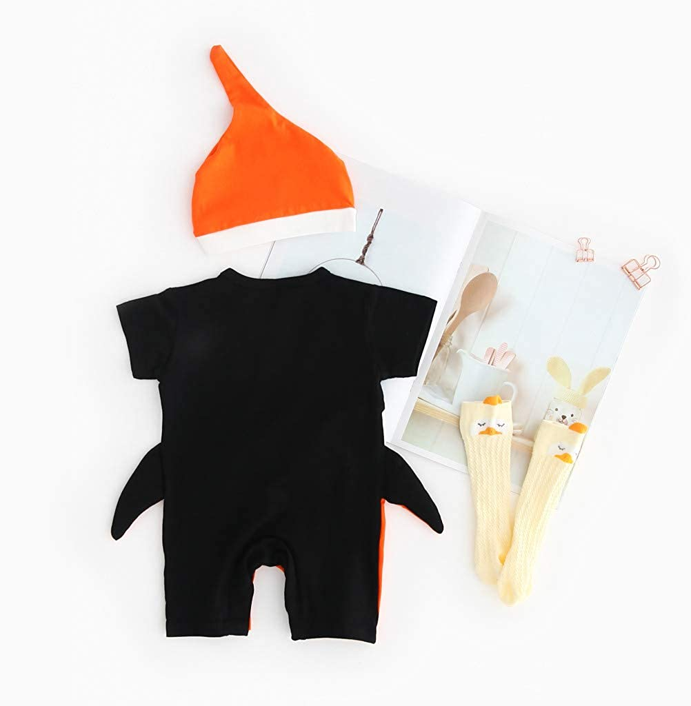DICPOLIA Cartoon Romper and Hat Costume Jumpsuit Set Outfits Set for Baby