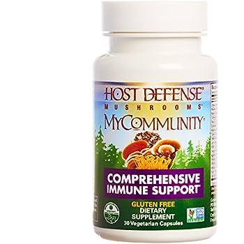 Host Defense - MyCommunity Capsules, Multi Mushroom Support for Immune Response, 30 Count