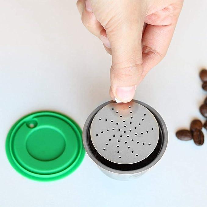 Ceepko Cápsula de café recargable, de acero inoxidable ...