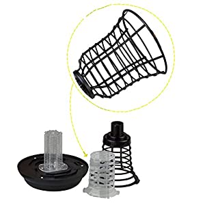 WALLER PAA Solar Powered Mosquito Insect Zapper Killer Bug UV Light Trap LED Garden Lamp