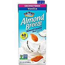 Almond Breeze Dairy Free Almondmilk Blend, Unsweetened Vanilla Almond Coconut, 32 Ounce (Pack of 12)