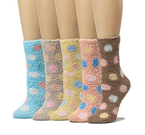 Leotruny 5-Pack Women's Striped Winter Cozy Warm Fuzzy