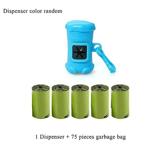 ZA Bolsa de basura para perros de 5 rollos Bolsas de 15 ...