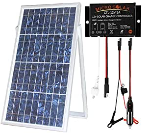 microsolar 30w solar charger kit plug play ip68 waterproof solar charge. Black Bedroom Furniture Sets. Home Design Ideas