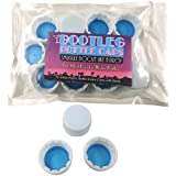 Bootleg Botella Caps. Sneak, smuggle y Ocultar Alcohol como el agua embotellada. 12-Pack Blanco 28mm Agua embotellada Twist Caps. antifiltraciones. Ahorre Dinero.