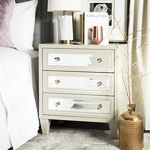 Safavieh CHS9202B Home Collection Marlon Grey 3 Chest of Drawers,
