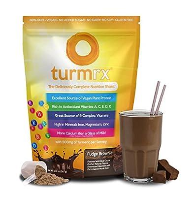 turmrx® - Healthy Vegan Weight Loss Shake + Turmeric & Vitamins (Fudge Brownie)