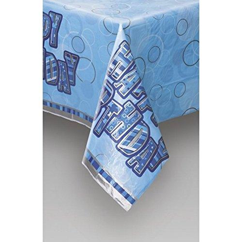 Unique Party Plastic Tablecover - Blue Glitz (One Size) (Blue) by Universal Textiles