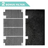 """Seven Sparta RV A/C Ducted Duo-Therm Air Grille for Dometic 3104928.019, Replace Air Conditioner Grill with 2 Filter Pad, 14.1"""" x 7.7"""" Polar White"""