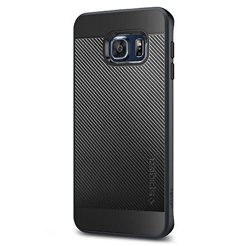 Spigen Neo Hybrid Carbon Galaxy S6 Edge Plus Case with Carbon Fiber Design and Reinforced Hard Bumper Frame for Galaxy S6 Edge Plus 2015 - Metal Slate