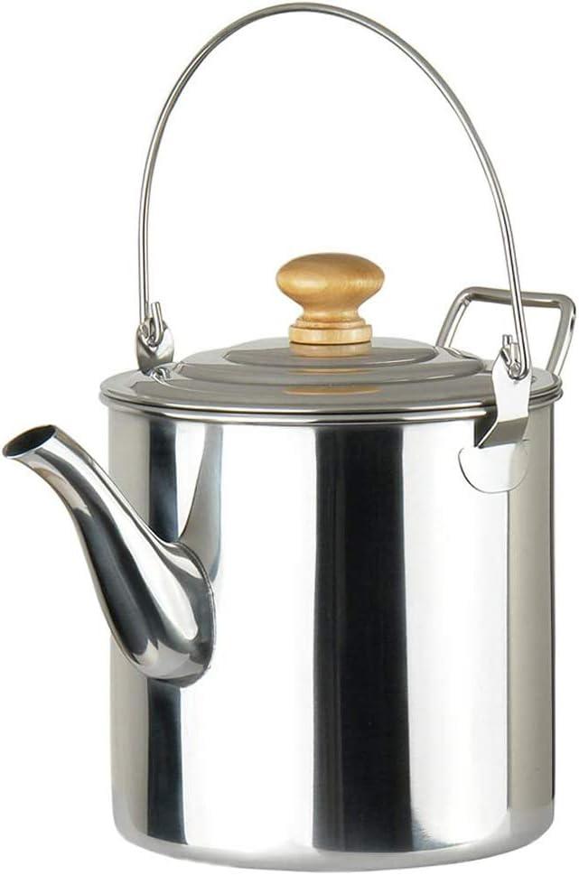 Cestbon 3000 ml Pote Que acampa al Aire Libre de una cafetera hervidor de Acero Inoxidable, Acero Inoxidable Exterior marmita de cocción