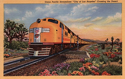 Pacific Railroad Stock (California - Union Pacific Railroad City of Los Angeles Train (12x18 Collectible Art Print, Wall Decor Travel Poster))