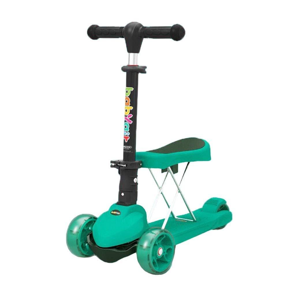 納得できる割引 スクーターを蹴る子供たち 折りたたみクールスクーター 緑、自転車3輪スイング車 (色 B07R3KXGR5 : ピンク) B07R3KXGR5 ピンク) 緑 緑, プリティウーマン:b6b1a934 --- 4x4.lt