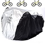 Aiskaer Waterproof Bicycle Cover Outdoor Rain Protector 3 Bikes-dustproof Sunscreen.Large Size Mountain Bike Cover, Electric Bike Cover Windproof Buckle Strap